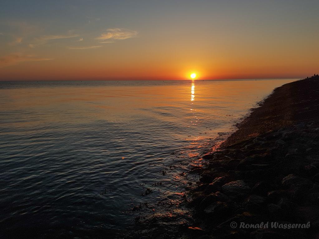 Sonnenuntergang bei Büsum