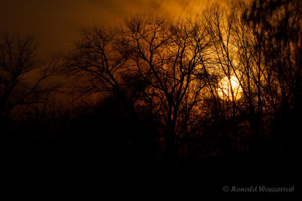 Sonnenuntergang am Badesee Düren