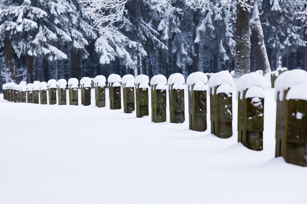 Der Ehrenfriedhof im Ortsteil Hürtgen