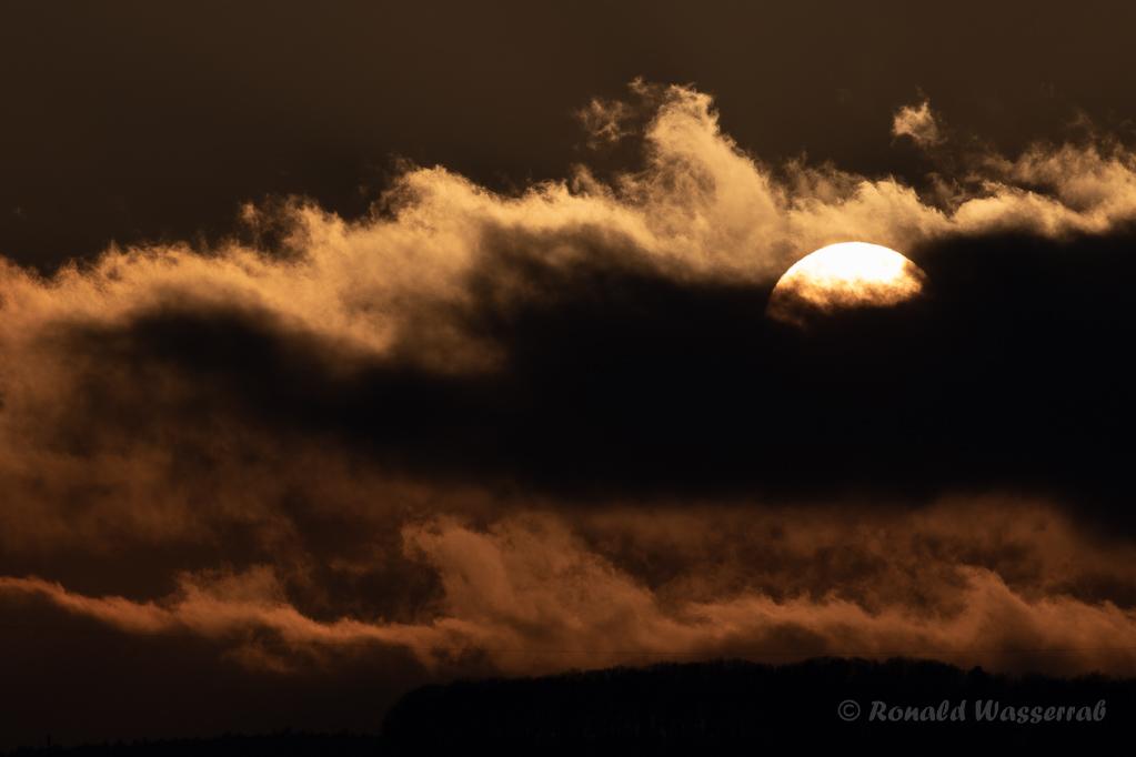 Sonnenuntergang an der Hubertuskapelle