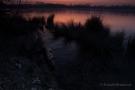 Erstes Morgenlicht vor Sonnenaufgang am Badesee Düren