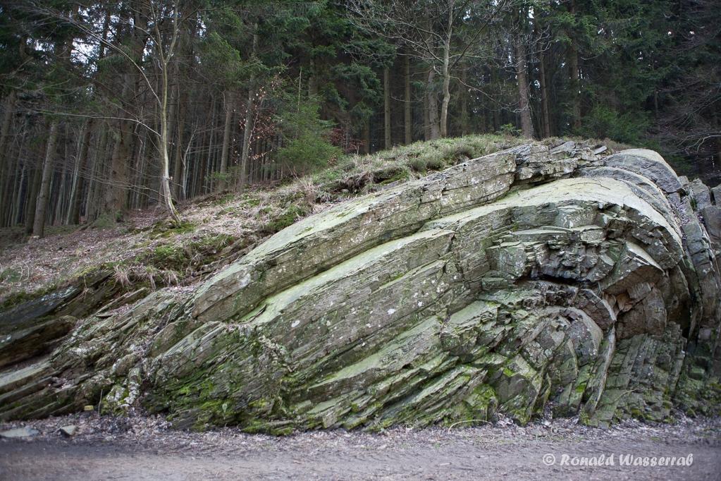 Geologischer Sattel an der Teufelsley