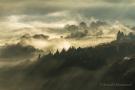 Sonnennebel über Nideggen-Hetzingen vom Burgberg aus gesehen