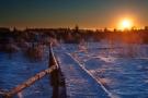 Steg am Hellenketel bei Sonnenuntergang