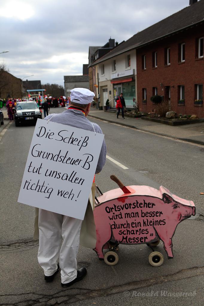 Protest des Ortsvorstehers