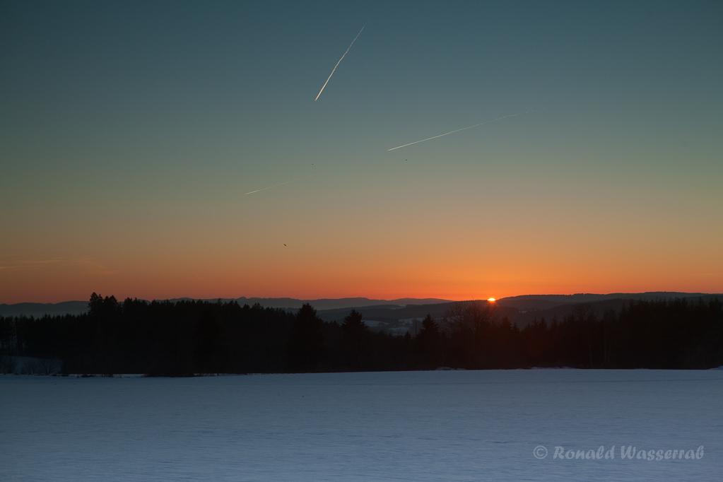 Sonnenuntergang bei Höchenschwand