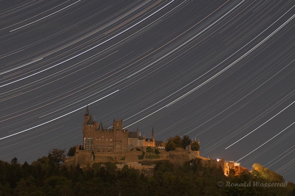 Burg Hohenzollern mit Sternspuren