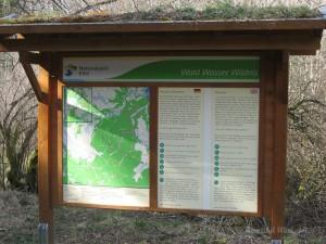 Nationalparkschild Nähe Bunker im Fuhrtsbachtal