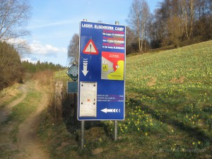 Schild am Camp Elsenborn (Galgenberg)