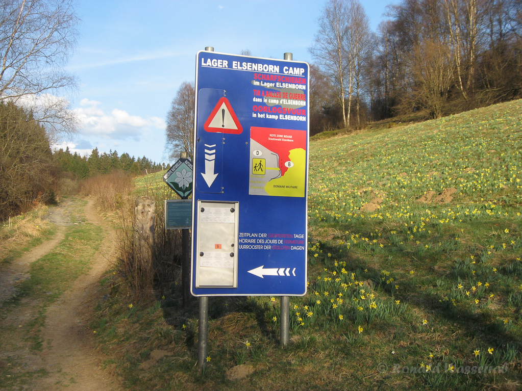 Schild am Camp Elsenborn (Galgenberg)