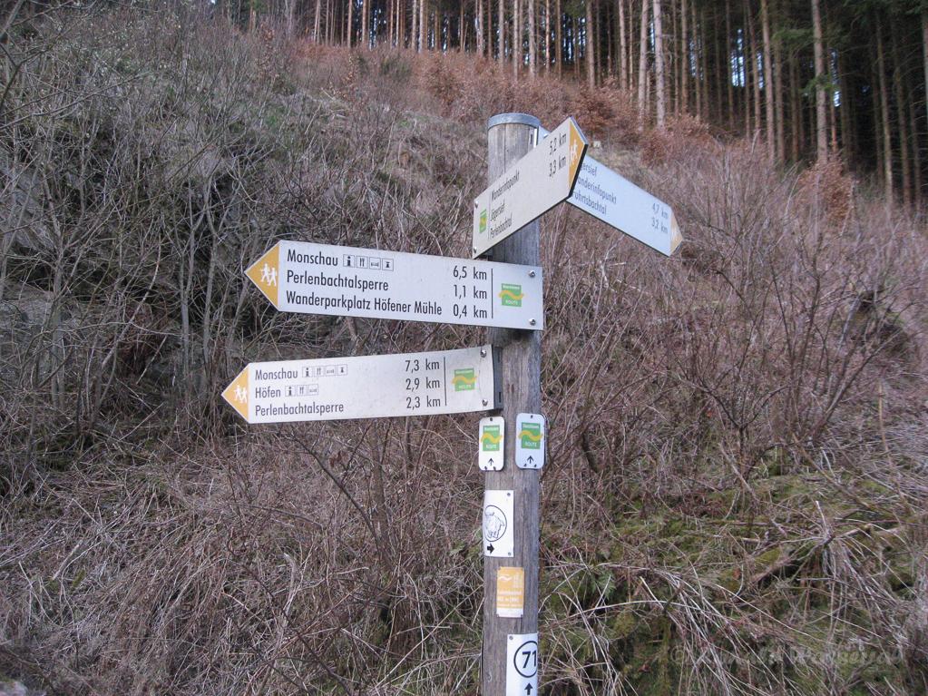 Wegweiser am Fuhrtsbach