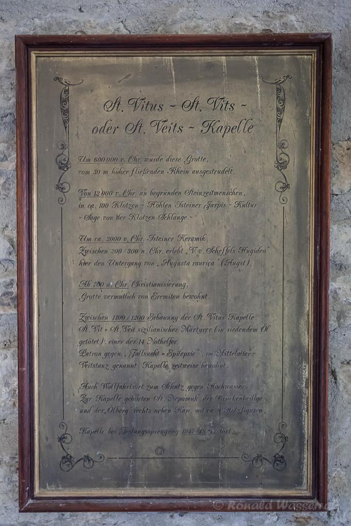 Infotafel in der St. Veits-Kapelle