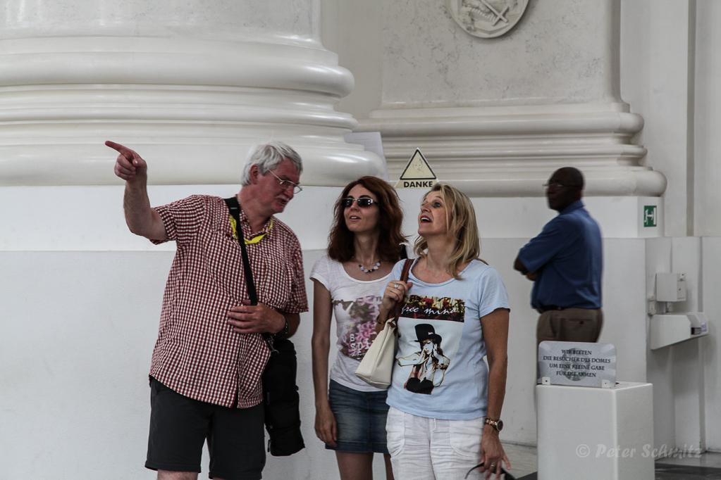 Ronald, Elke und Susi im Dom von St. Blasien Foto: Peter Schmitz