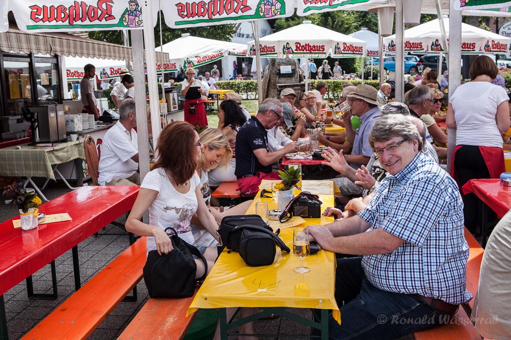 Tisch Nr. 41 mit Elke, Susi, Manfred, Peter und dem stellvertretenden Bürgermeister Georg Villinger