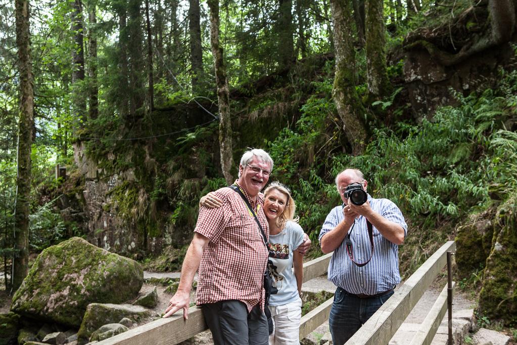 Ronald, Susi und Peter am Alb-Fall in Menzenschwand
