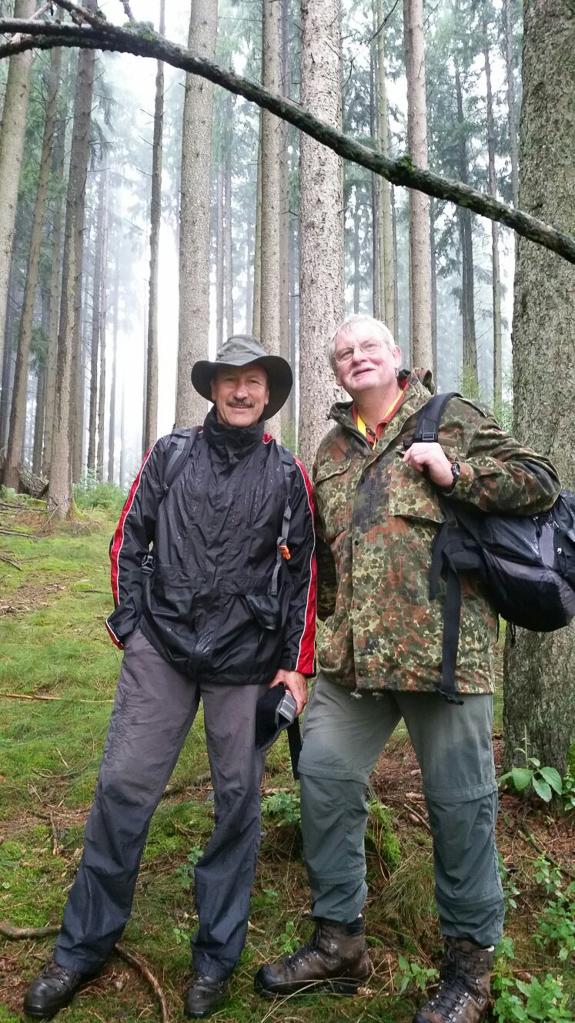 Gerd und Ronald nach dem Drehwurz-Shooting (Foto: Birgit Wartha)