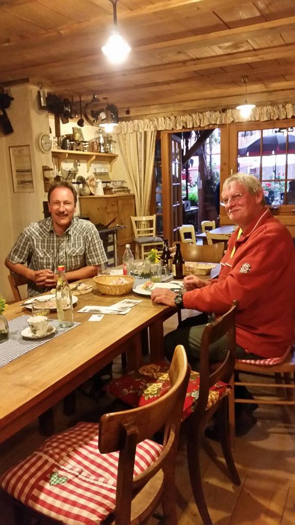 Gerd und Ronald im Moschtschöpfle bei Hüfingen (Foto: Birgit Wartha)