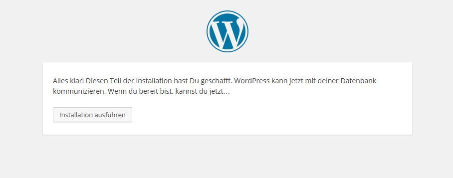 WP Zugangsdaten Host akzeptiert