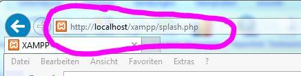 XAMPP im Internet-Explorer