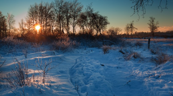 Nahtsief (Brackvenn) bei Sonnenuntergang