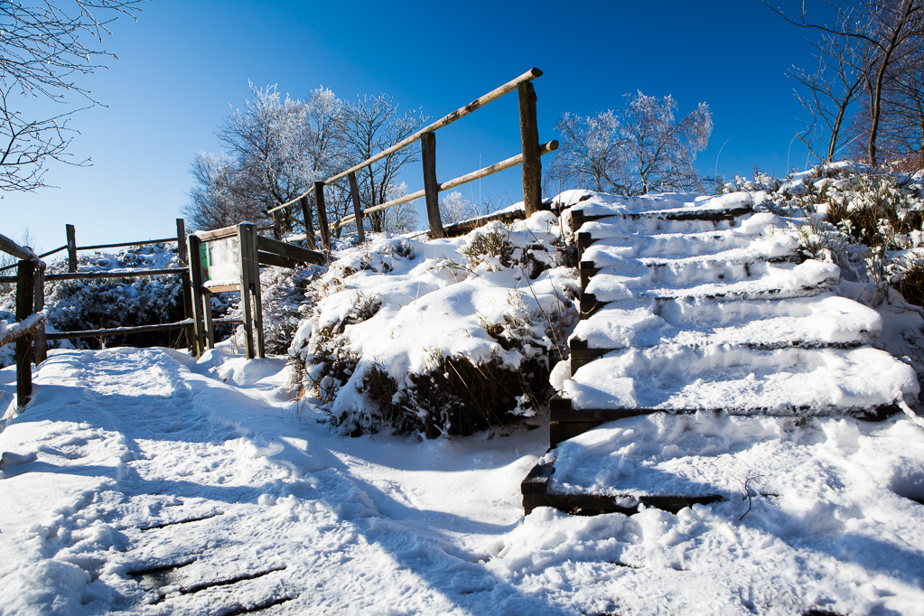 Treppe am Wasserrückstau
