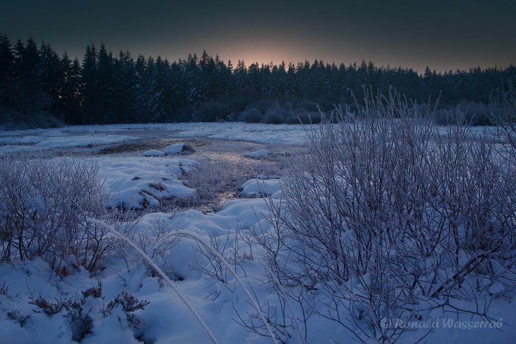 Blaue Stunde morgens am Hellenketel