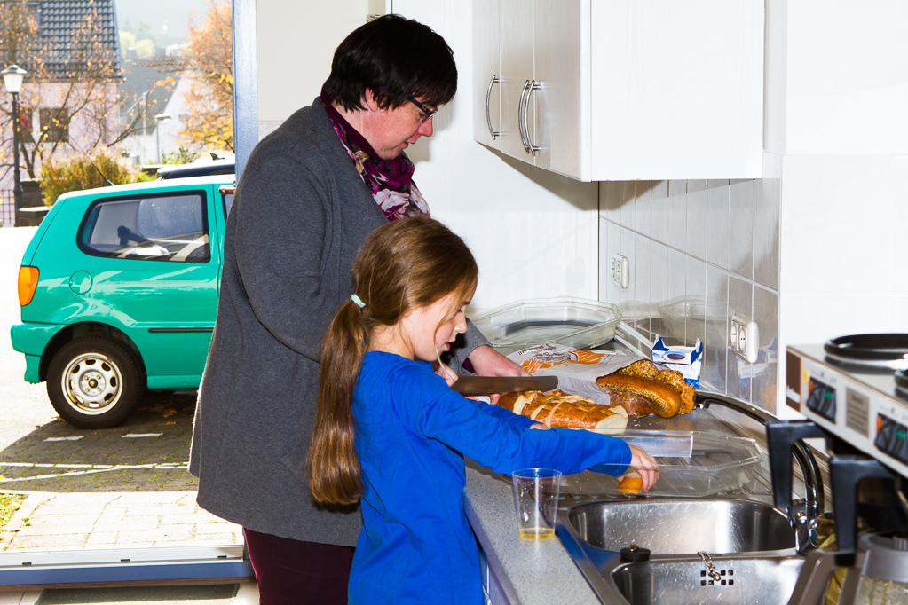 Vorbereitung für das Mittagessen