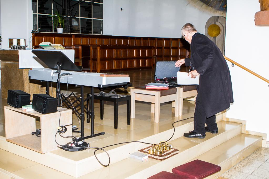 Aufbau vor der Messe