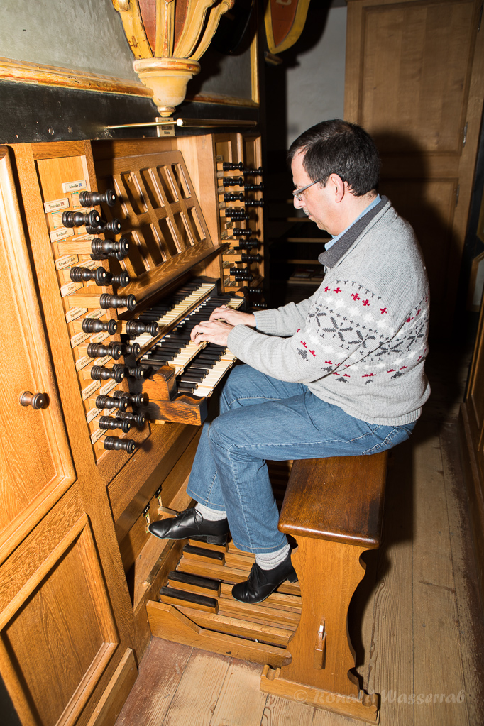 Andreas Warler an der König-Orgel Steinfeld
