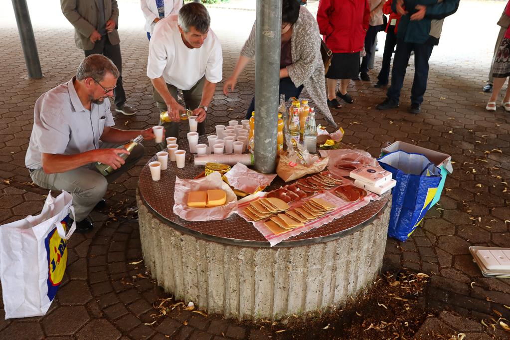 Frühstückspause in Holles Gymnasium