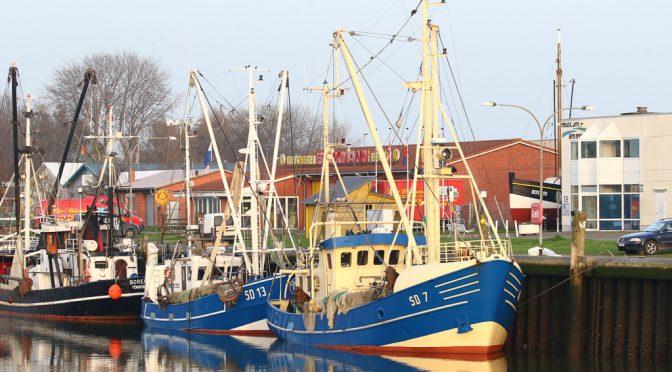 Schiffe im Hafen Büsum