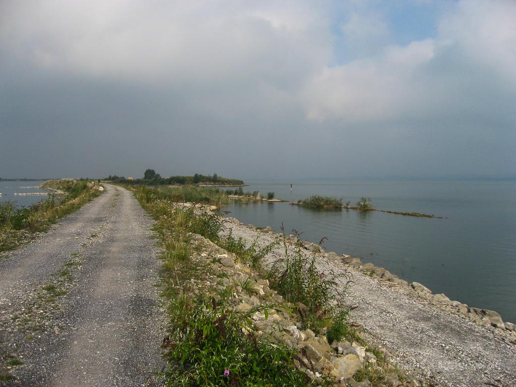 Ende des rechten Rheindamms