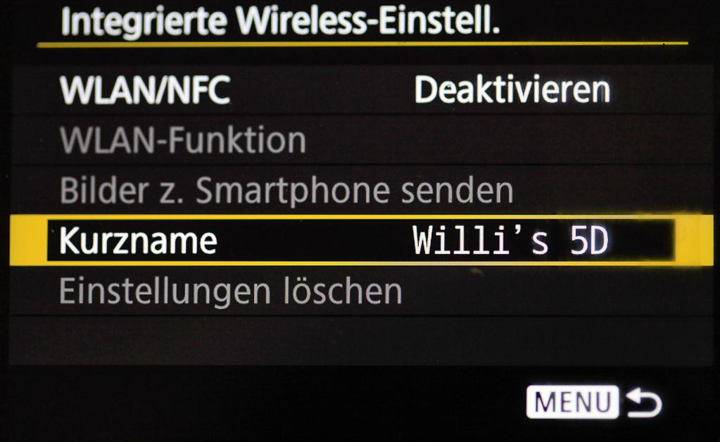 Canon mit Smartphone verbinden - Bestätigter neuer Kurzname