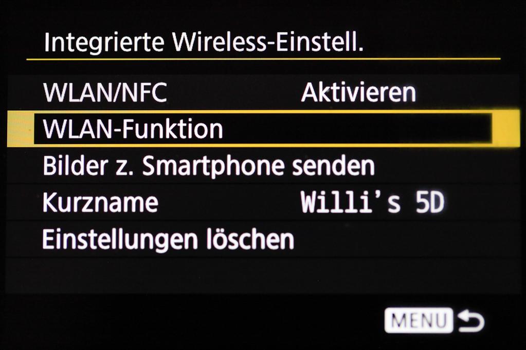 Canon mit Smartphone verbinden - WLAN-Funktion