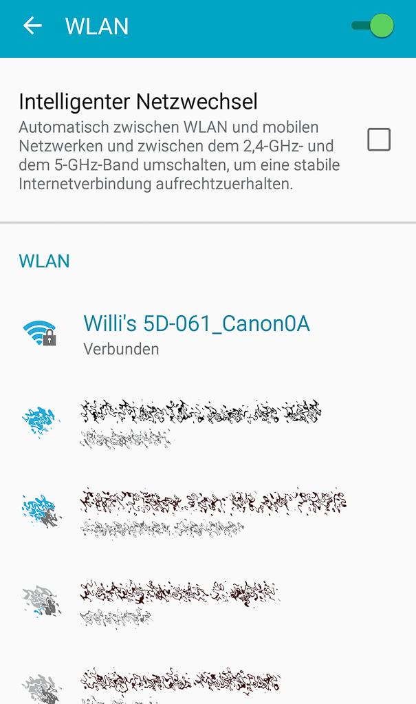 Canon mit Smartphone verbinden - Smartphone mit WLAN verbunden