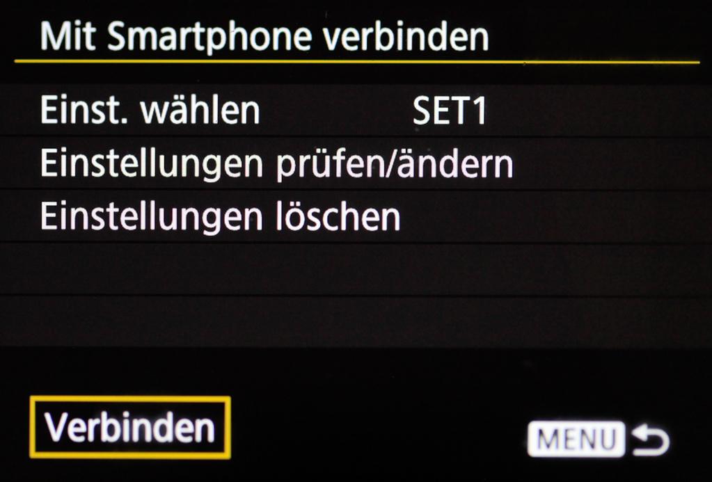 Canon mit Smartphone verbinden - Wiederholte Smartphone-Verbindung