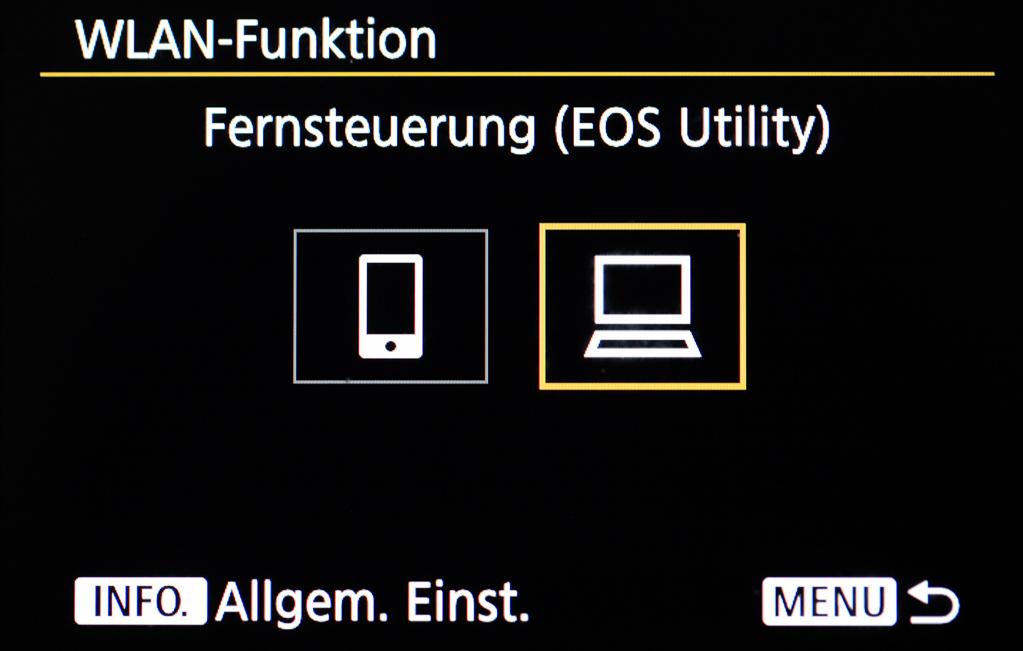 """Canon mit Smartphone verbinden - WLAN-Funktion """"Mit PC verbinden"""""""