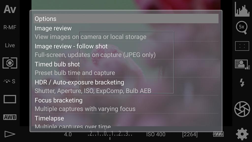 Focus-Stacking mit DSLR-Controller - Focus-Bracketing wählen