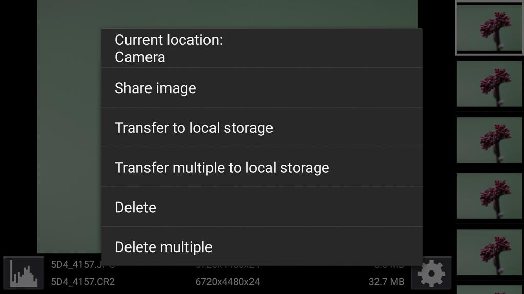 Focus-Stacking mit DSLR-Controller - Fotos auf das Smartphone kopieren (herunterladen) oder löschen