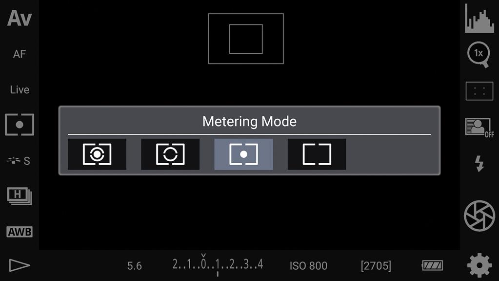 DSLR-Controller Bedienungsanleitung - Belichtungsmessmethoden