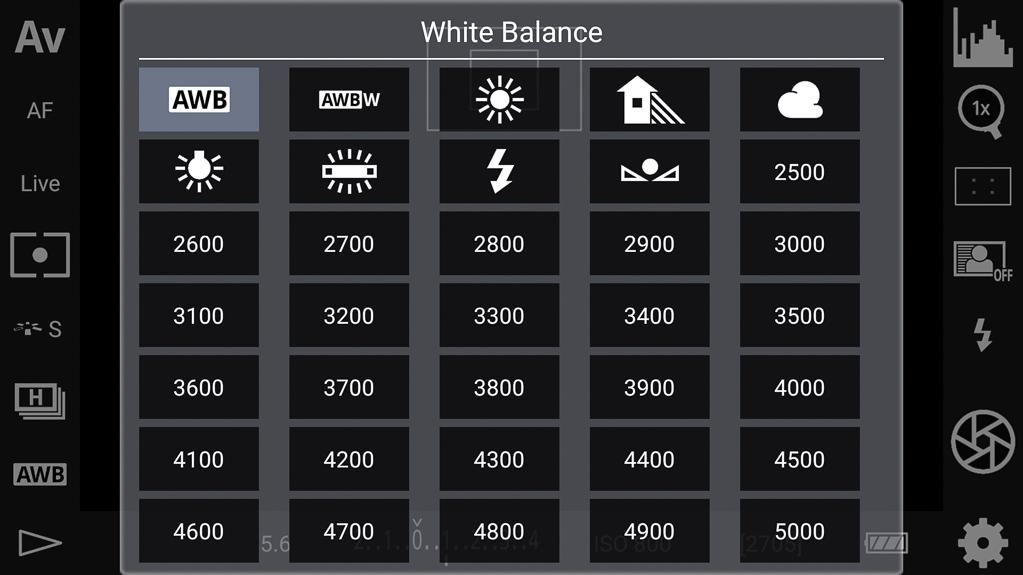 DSLR-Controller Bedienungsanleitung - Weißabgleich