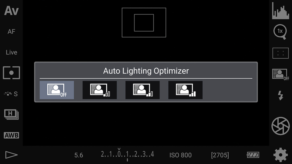 DSLR-Controller Bedienungsanleitung - Automatische Belichtungsoptimierung