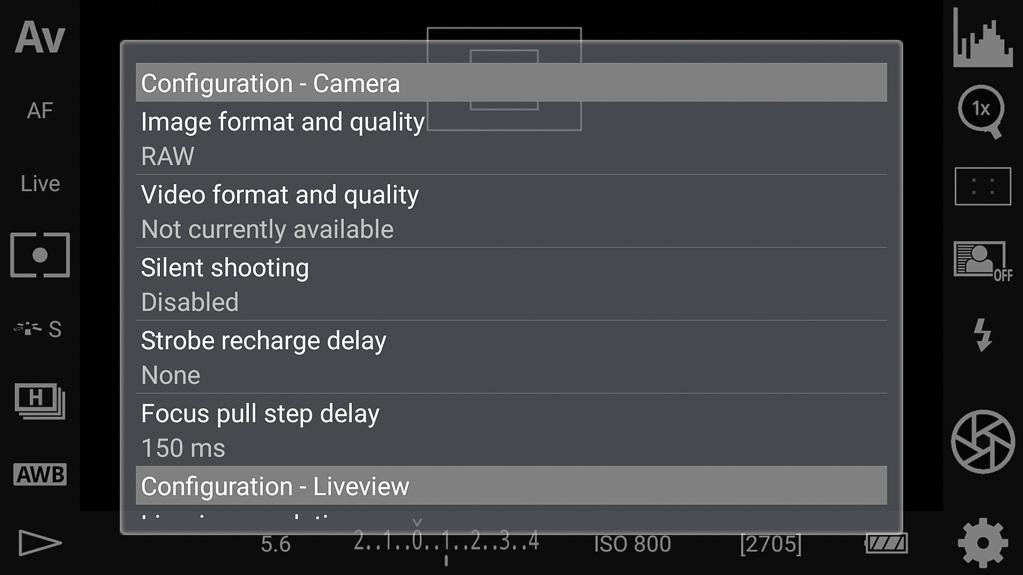 DSLR-Controller Bedienungsanleitung - Einstellungen/Optionen Teil 3