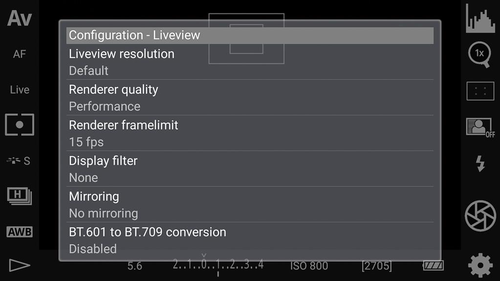DSLR-Controller Bedienungsanleitung - Einstellungen/Optionen Teil 4