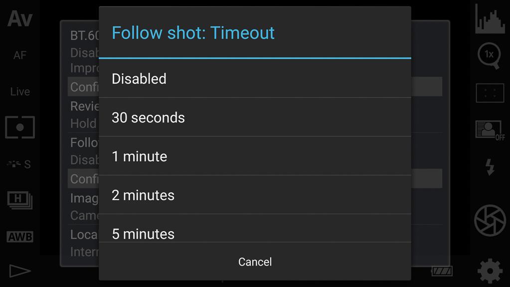 DSLR-Controller Bedienungsanleitung - Timeout der automatischen Bilderrückschau