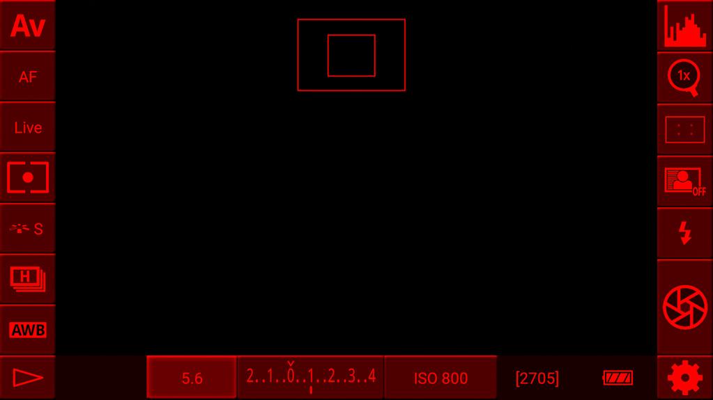 DSLR-Controller Anleitung - Image Review - rotes Licht gegen Blendeffekt
