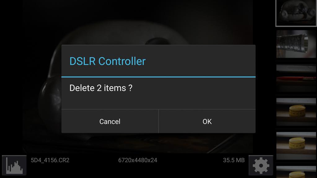 DSLR-Controller Bedienungsanleitung - Sicherheitsabfrage