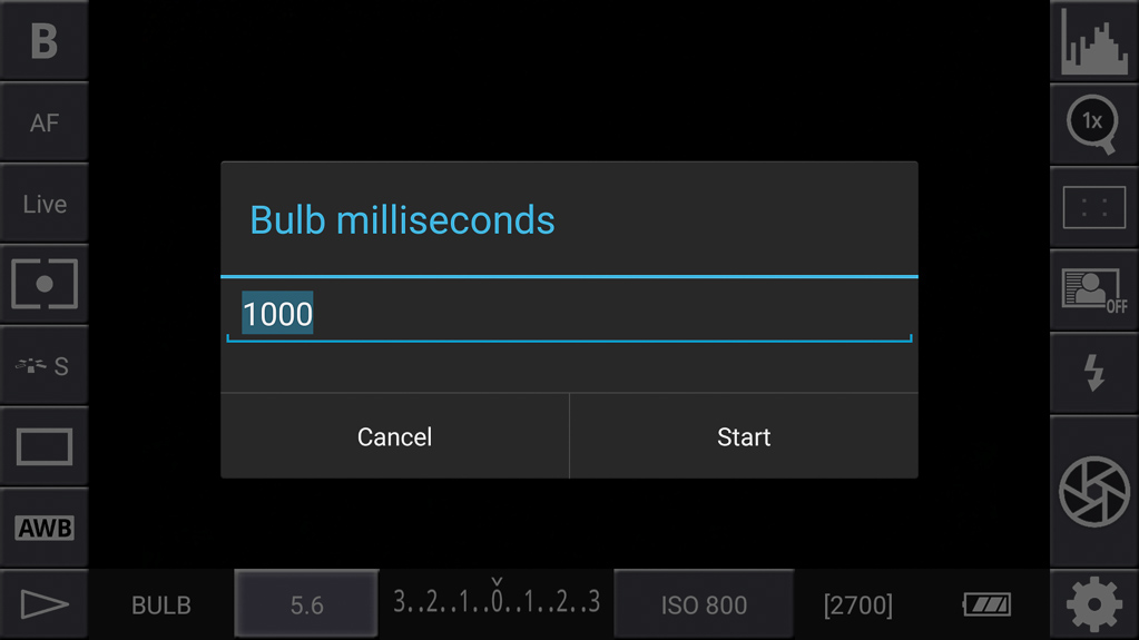 DSLR-Controller Anleitung - Timed bulb shot