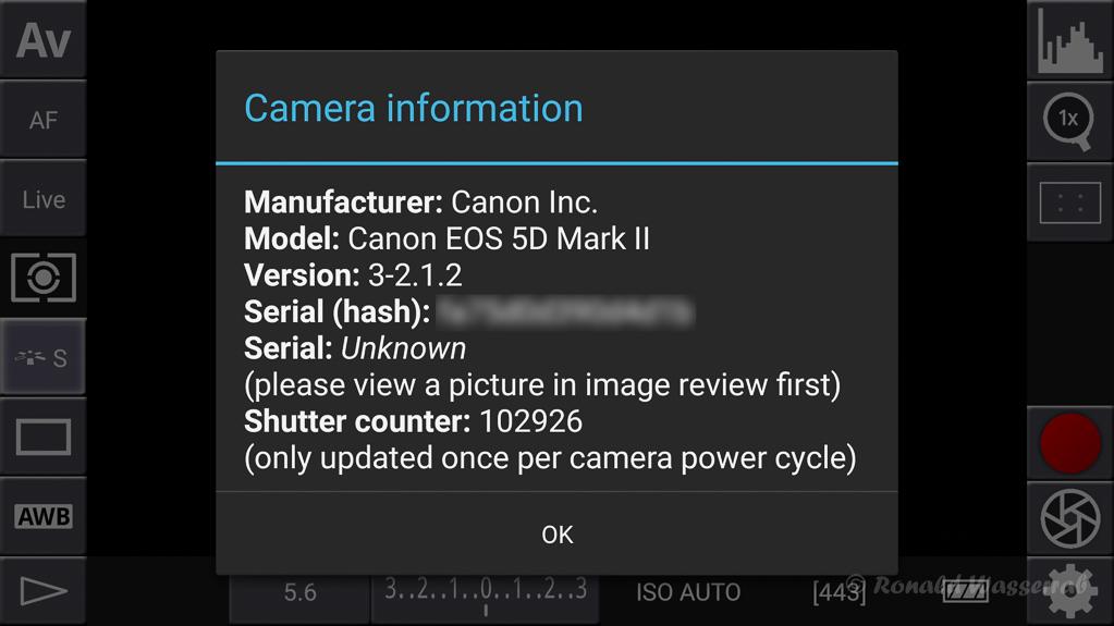 DSLR-Controller Anleitung - Kamera-Informationen