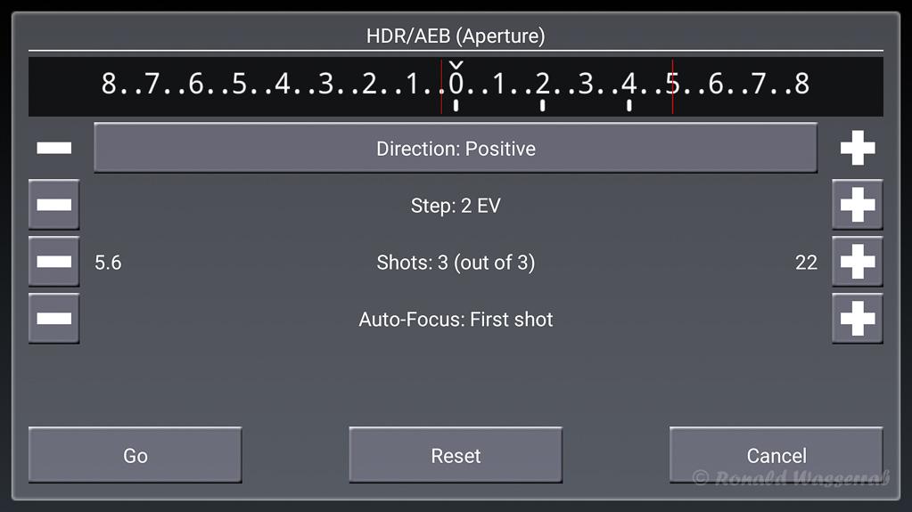 HDR/AEB (Aparture)